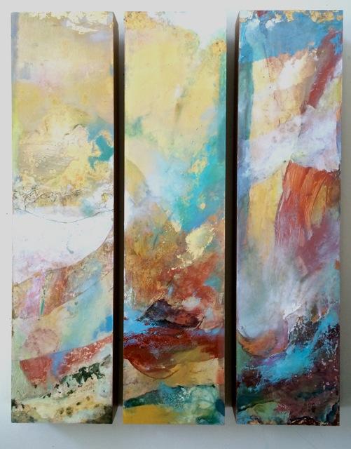 """""""Journey"""" (triptych) by Kindall Klinbeil"""