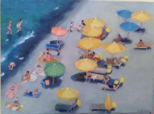 """Italian Riviera Beach Scene"" by Ashley Cordes"