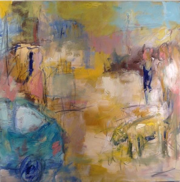 """Departure,"" Oil by Bruce Horan"
