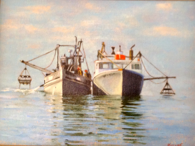 """""""Copps Island Oyster Boats"""" by Mary Morant"""