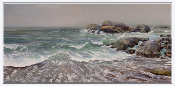 """""""Point of Rocks Incoming Tide/Weeburn Club"""" by Brian Kammerer """""""